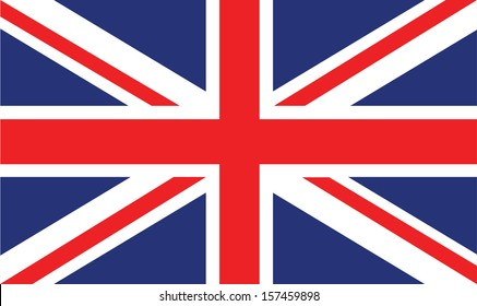 vector image of british flag