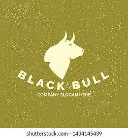 Vector image of an bull design on a white background. Logo, Symbol