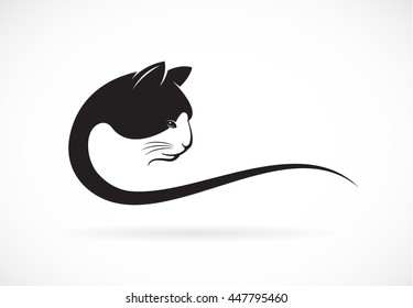 Vector image of an cat face design on white background, Vector illustration. Pet