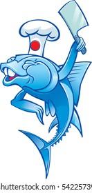 Vector Image chef fish