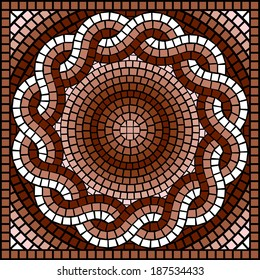 vector image with classic Greek mosaic