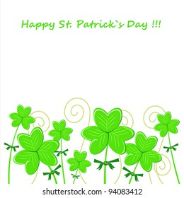 Vector image clover. St. Patrick's Day