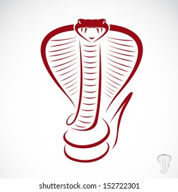 Vector image of an cobra