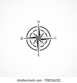 Vector image of compass icon.