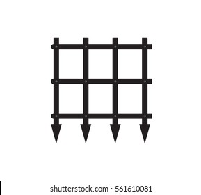 Vector image of a corner part of a portcullis/castle gate