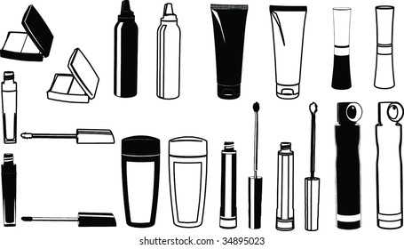 The vector image of cosmetics