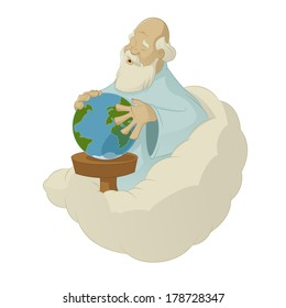 Vector image of creation world by God