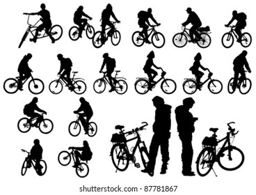 Vector image of a cyclist fit
