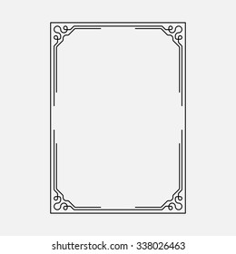 vector image, decorative ornamental frame