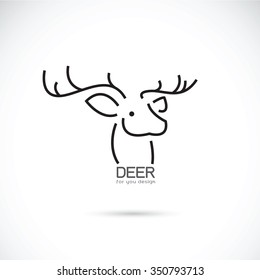 Vector Image Of An Deer Head Design On A White Background Animals