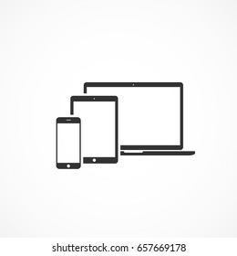 Vector image of a devices icon.