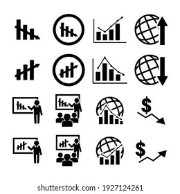 Vector image. Different graphics icons.