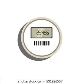 Vector image of a digital meter