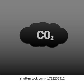 Vector image of a dirty cloud of carbon dioxide, the result of environmental pollution.