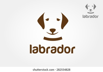 Vector image of dog labrador on white background. It's good for pet shop, pet house, pet clinic, dog care, or other pet activity.