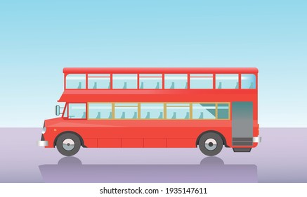 Vector image double-decker bus in London
