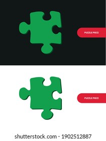 Vector image. Drawing of a puzzle piece.