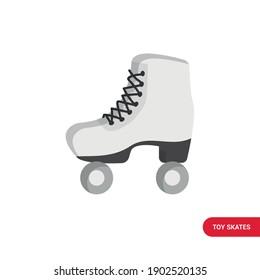 Vector image. Drawing of some skates. White skates.