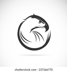 Vector image of an eagle design on white background, Vector eagle for your design.