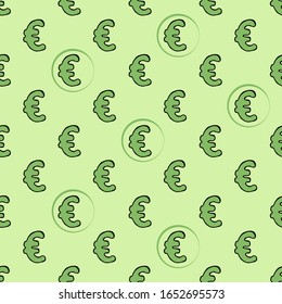 vector image of a euro sign on a  background. Vector euro symbol pattern