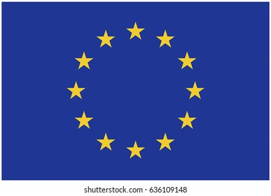 Vector Image Of European Union Flag