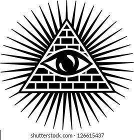 Vector Image - Eye Of Providence - All Seeing Eye Of God - Symbol Omniscience