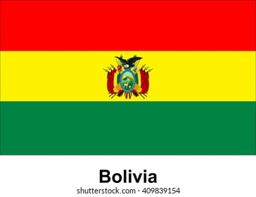 vector image of flag Bolivia