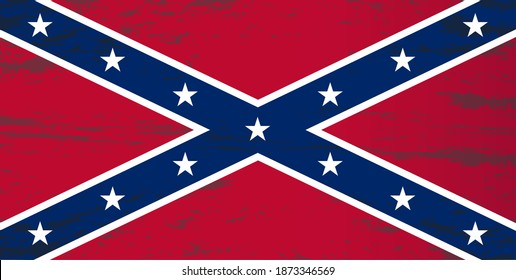 vector image of the flag of the Confederate States of America