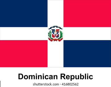Vector image of flag Dominican Republic