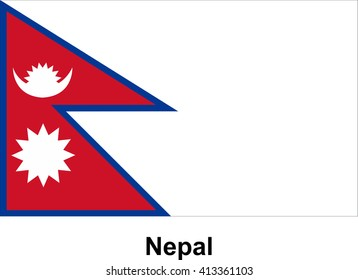 Vector image of flag Nepal