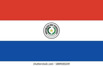 Vector image of the flag of Paraguay