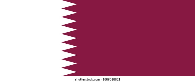 Vector image of the flag of Qatar