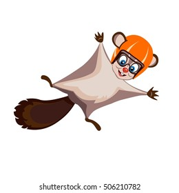 vector image of flying squirrels