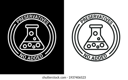 Vector image. Food icon with no added preservatives.
