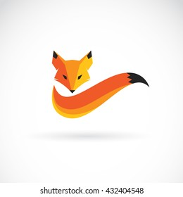 Vector image of a fox design on a white background, Vector illustration. Animal Logo.