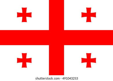 vector image of Georgia flag