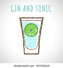 vector image of gin and tonic
