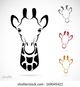 Vector image of an giraffe head on white background, Giraffe Logo, Giraffe Icon, Giraffe Head Design, Giraffe Head Tattoo, Giraffe Head Banners, Vector giraffe head for your design.