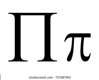 Vector image of Greek letter Pi