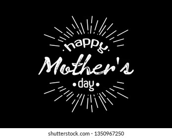 Vector image happy mother's day