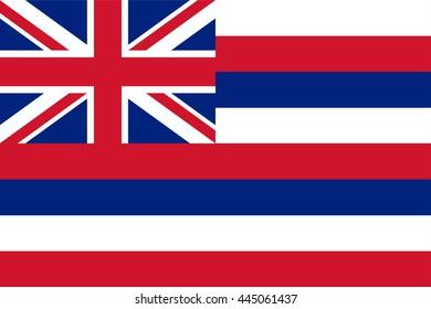 Vector image of Hawaii State flag. Ka Hae Hawaii. Proportion2:3. EPS10.