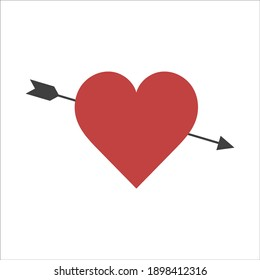 vector image of heart arrow icon on white background