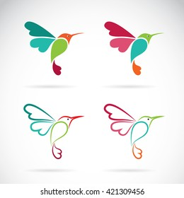Vector image of an hummingbird design on white background, Hummingbird Icon, Vector Hummingbird for your design.