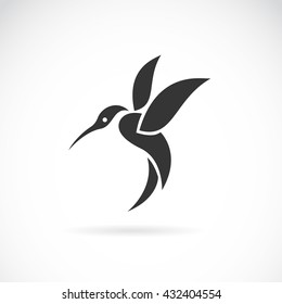 Vector image of an hummingbird design on white background, Wild Animals, Vector illustration. Logo