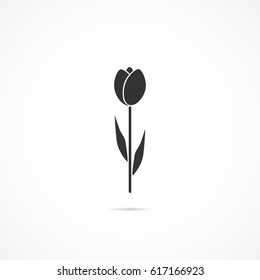 Vector image of icon flower.