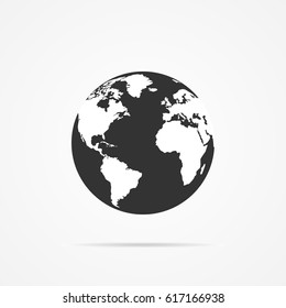 Vector image of an icon of the planet earth.