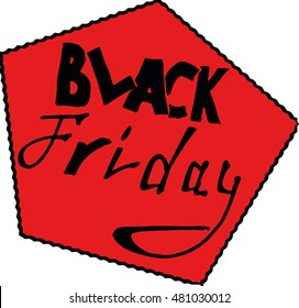 Vector image icon sale. Black friday on holiday. Icon sale, discount. Hand drawn logo sale, discount percentage.