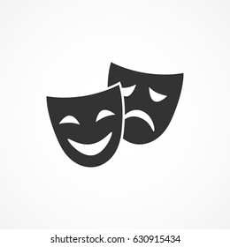 Vector image of icon theater masks.Vector art.