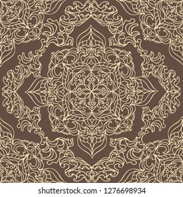 Indian Ornament Pattern Can Be Used For Designer Wallpapers For Textile