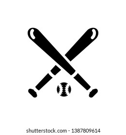 866013cedd29b Vector image of an isolated baseball bat icon with a ball for playing  baseball. Design